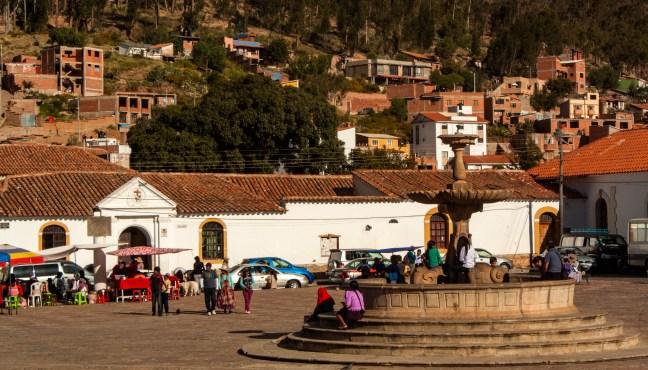 Plaza de La Recoleta ciudad de Sucre, Chuquisaca, Bolivia