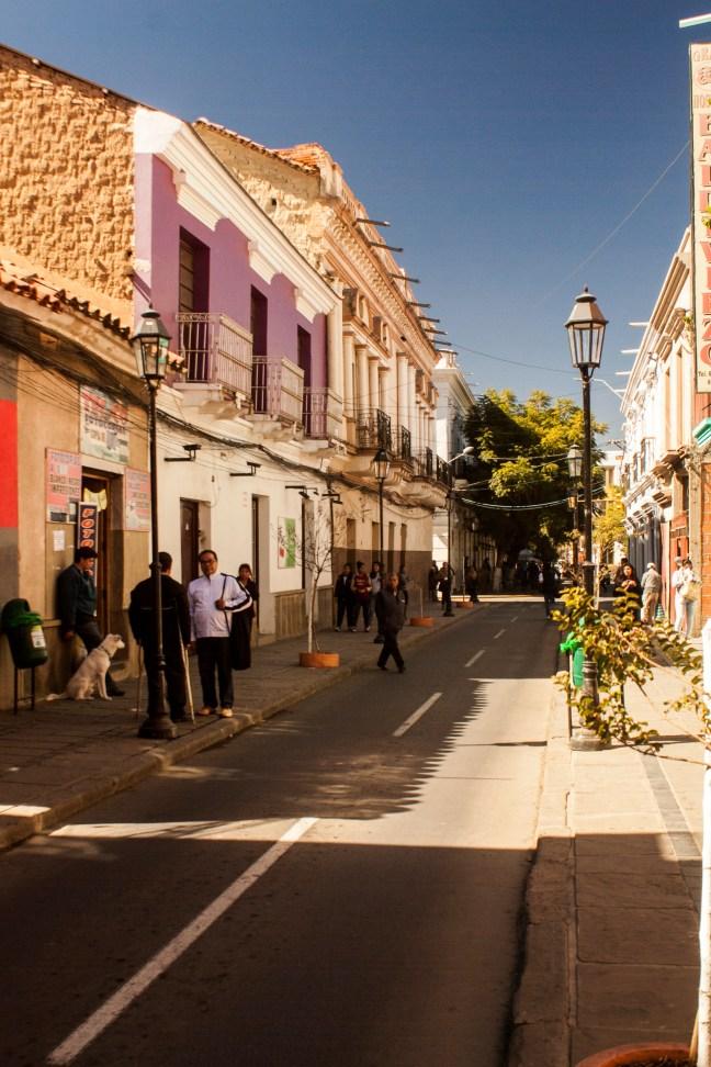 Calles de la ciudad Tarija, Tarija, Bolivia