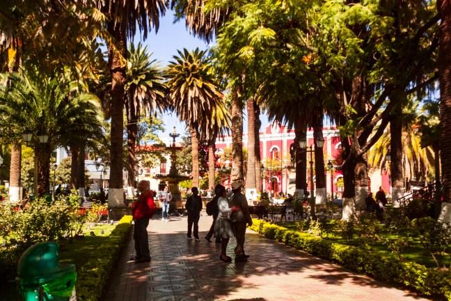 En la Plaza de Armas Tarija, Tarija, Bolivia
