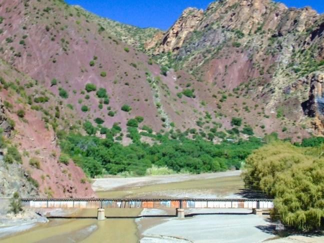 El puente del ferrocarril Tupiza, Potosí, Bolivia