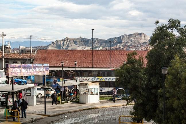 Vista del terminal ciudad de La Paz, La Paz, Bolivia