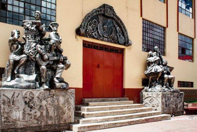 La escuela de música Puno, Perú