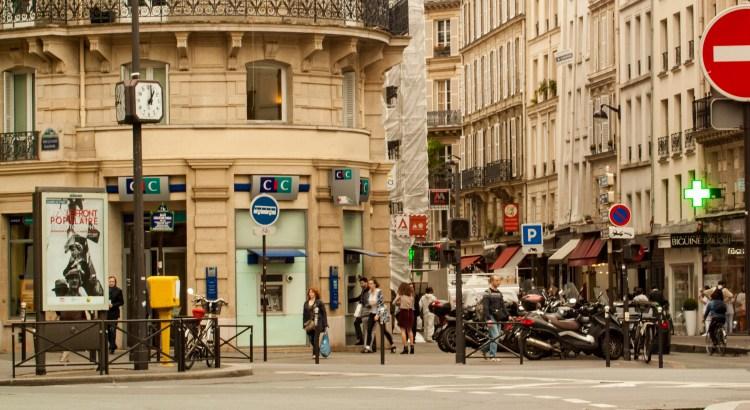 Vida en las calles París, Francia