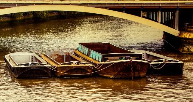 Anclados Río Thames, Londres, UK