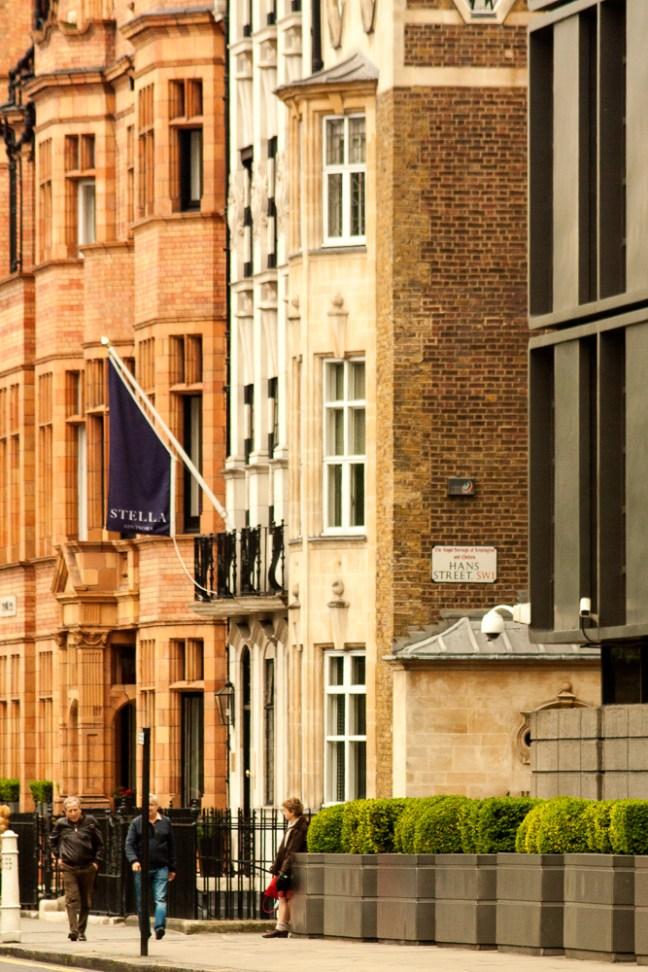 Vistas de las calles ciudad de Londres, UK