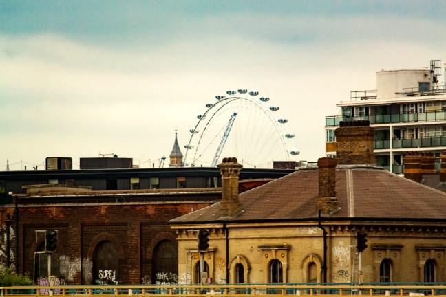 La rueda de la fortuna ciudad de Londres, UK