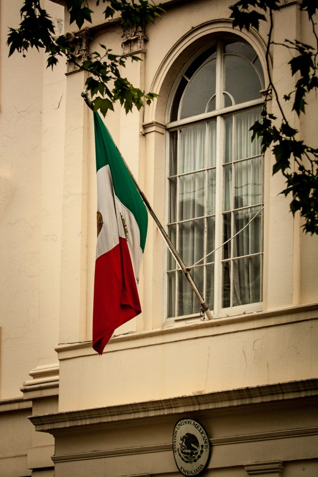 Bandera mexicana Londres. UK