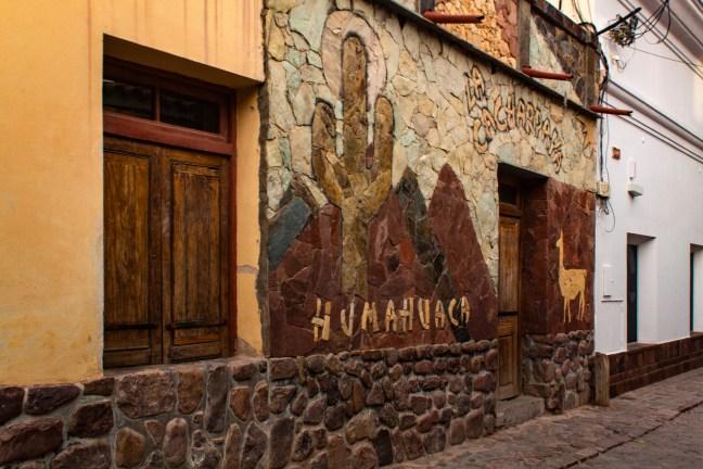 Fachadas del pueblo Humahuaca, Jujuy, Argentina