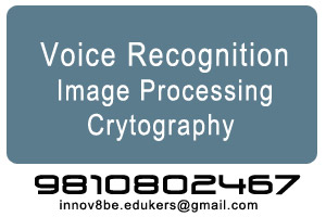 Science Projects - Voice Recognition, Image Processing, Cryptography