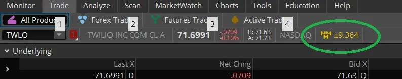 TIP: Using ThinkorSwim to determine the implied move for earnings