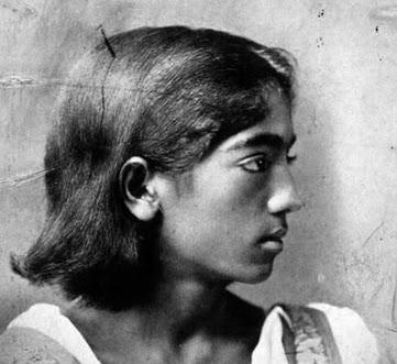Krishnamurty as boy