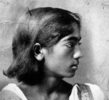 Krishnamurty as boy
