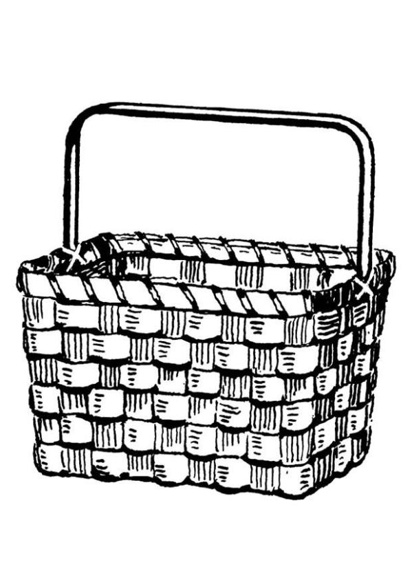 basket coloring page # 9