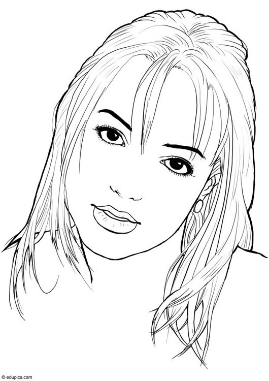 coloring page britney spears img 15397