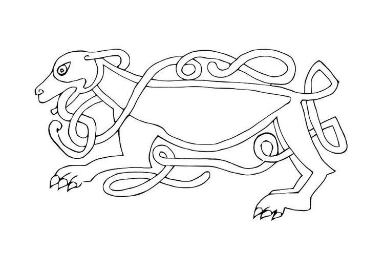 Coloring Page Celtic Bird Free Printable Coloring Pages