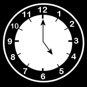 Coloring Page Clock Says Five O Clock Img 13654