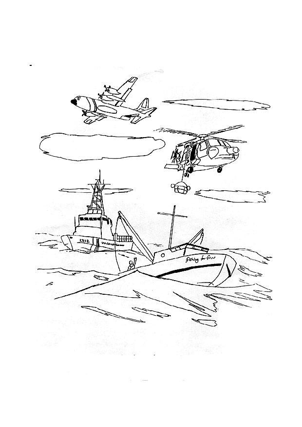 Coloring Page Coast Guard In Action Img 9272