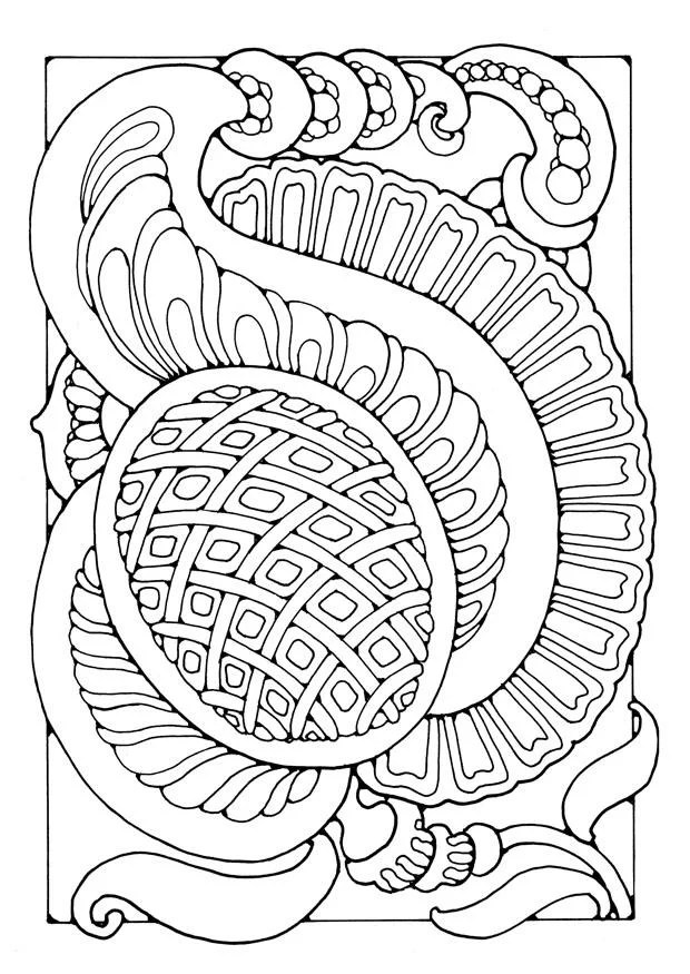 Coloring Page Fantasy Flower Img 21894