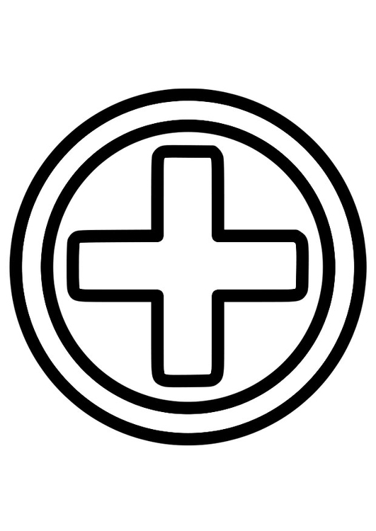 coloring page first aid icon img 28223