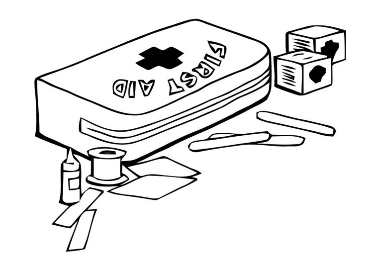 coloring page first aid kit img 22791