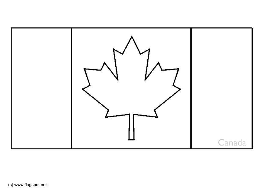 canada coloring flag page free coloring pages