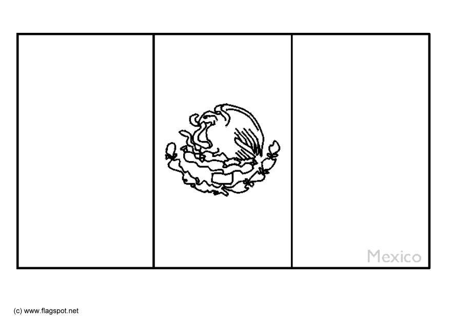 coloring page mexican flag free coloring pages