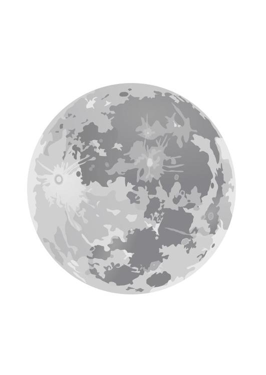 coloring page full moon img 10188
