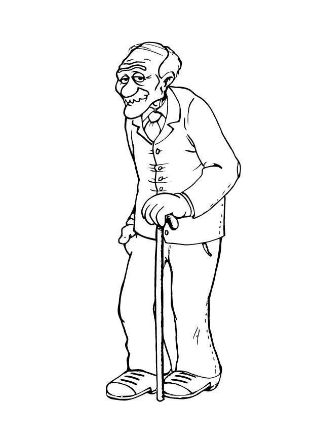 Coloring Page Grandfather Img 23106