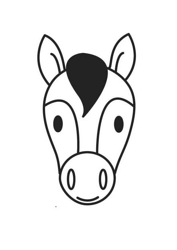 coloring page horse head img 18414