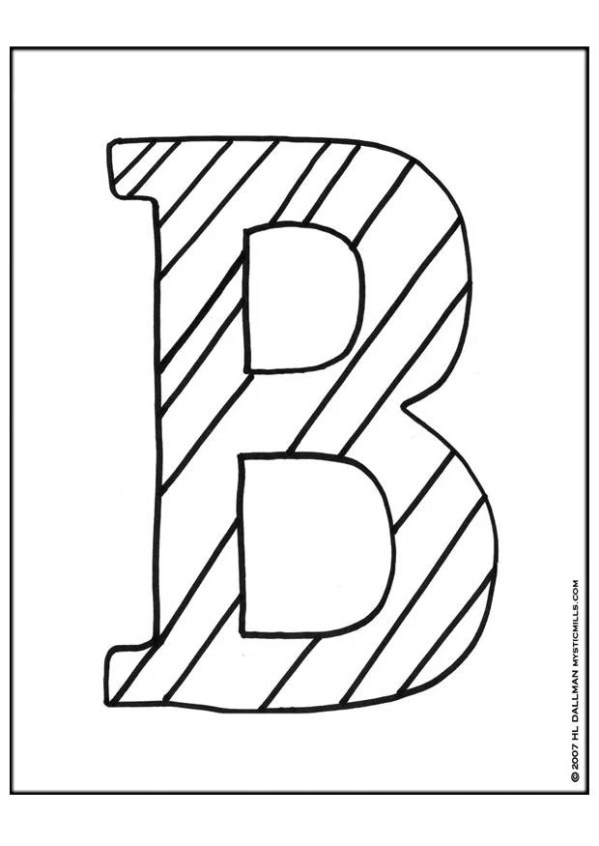 b coloring page # 10