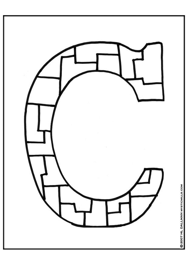 coloring page letter c img 9254