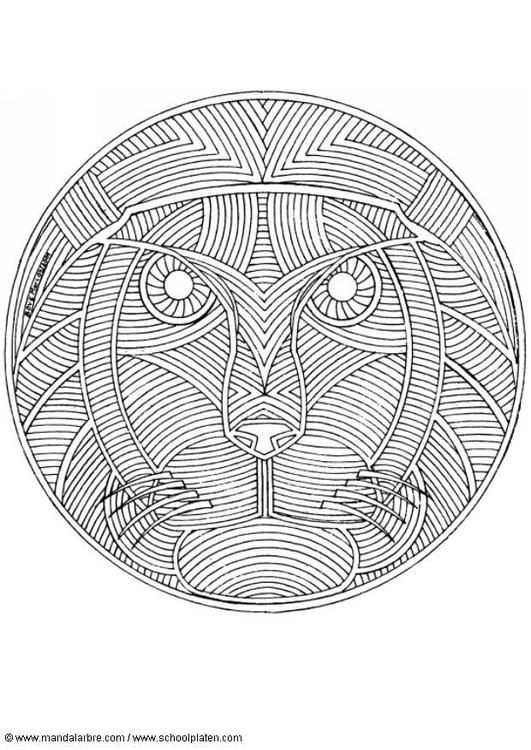 Coloring Page Lion Mandala Img 4569