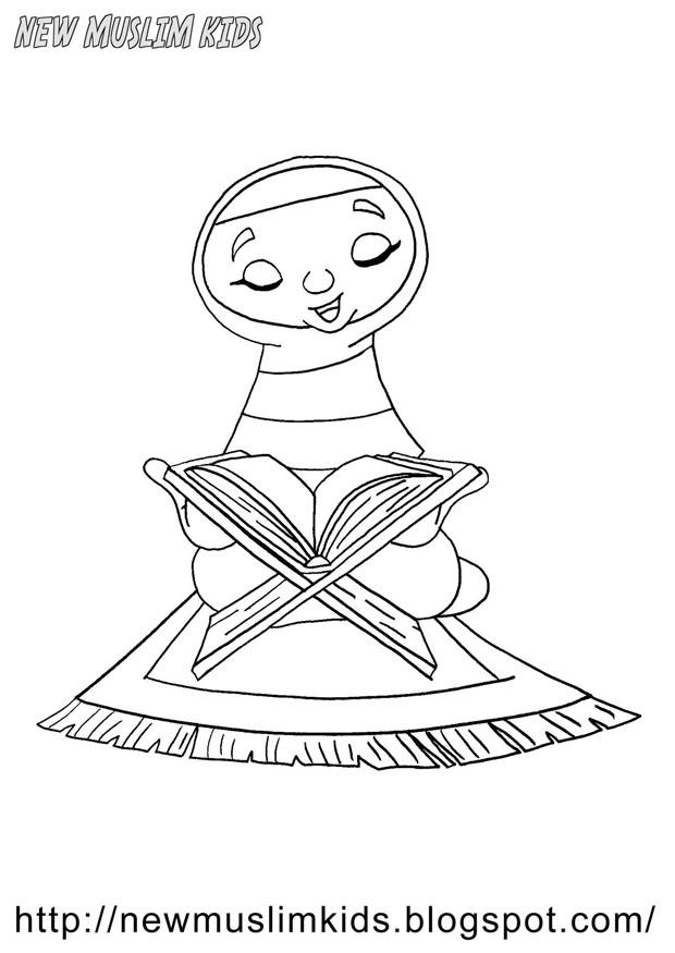 Coloring Page Muslim Girl Img 22014