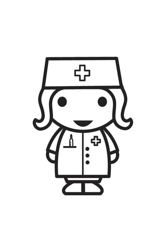Coloring Page Nurse Free Printable Coloring Pages