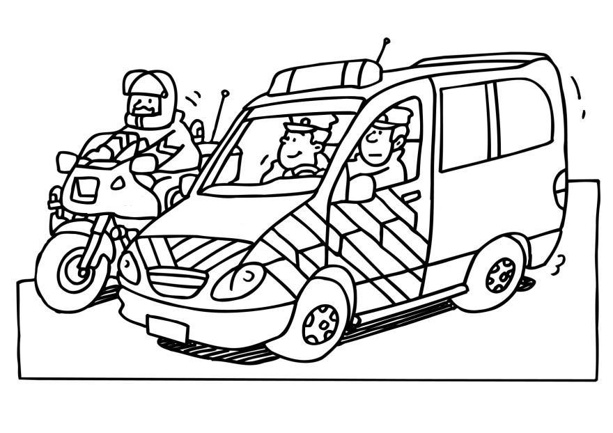 Coloring Page Police Free Printable Coloring Pages