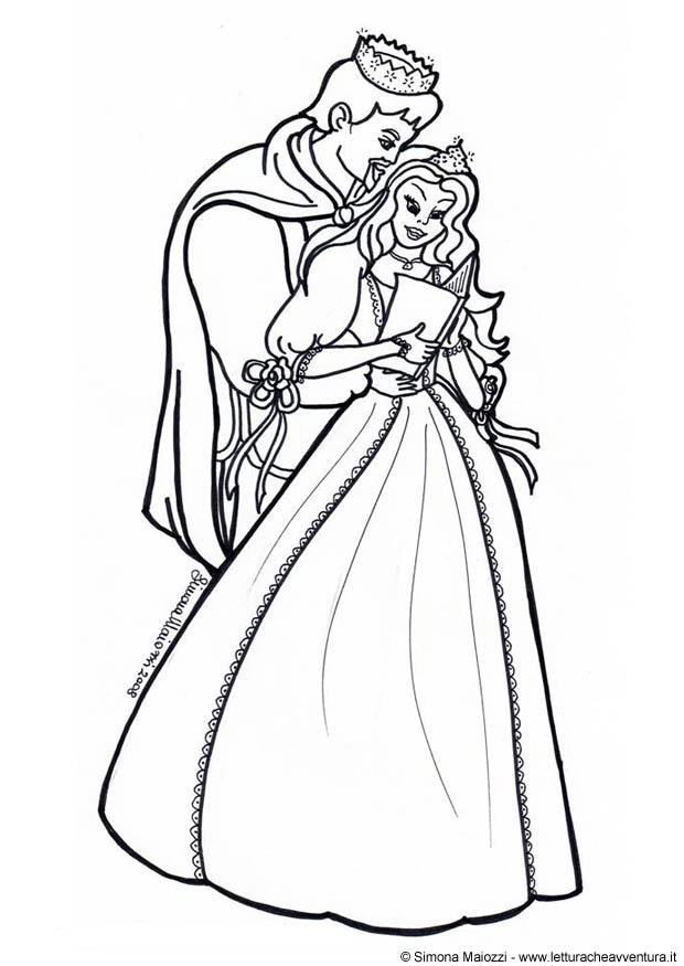 Coloring Page Prince And Princess Free Printable Coloring Pages