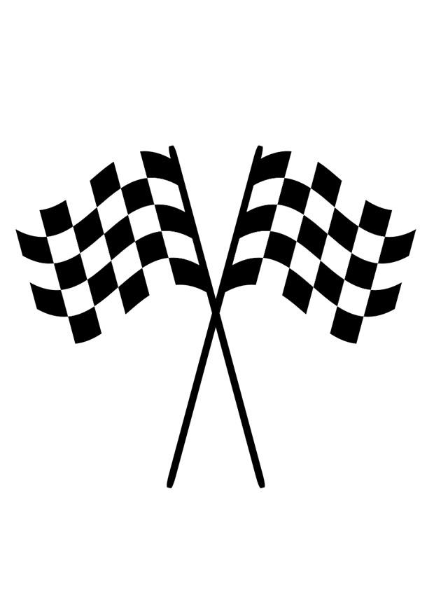 Coloring Page Racing Flags Img 29409