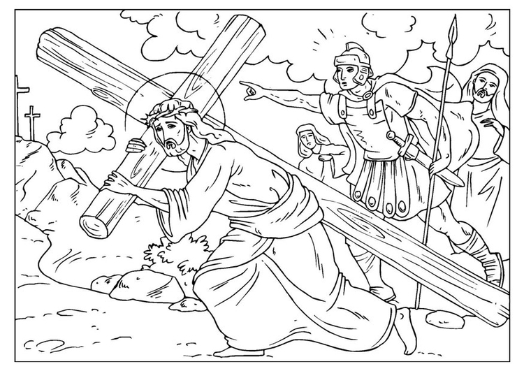 Coloring Page Road To Calvary Img 25915