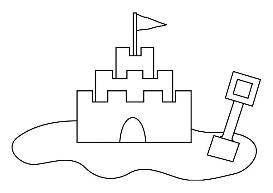 coloring page sandcastle img 19257