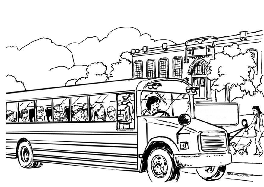 coloring page school bus img 8053