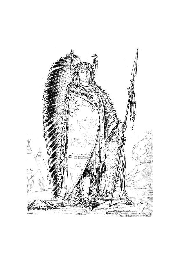 Coloring Page Sioux Indian Img 9420