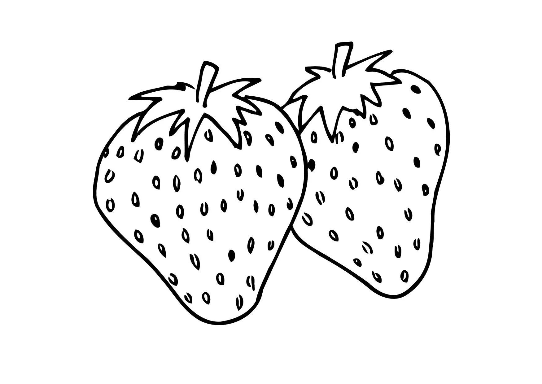 Coloring Page Strawberry Free Printable Coloring Pages