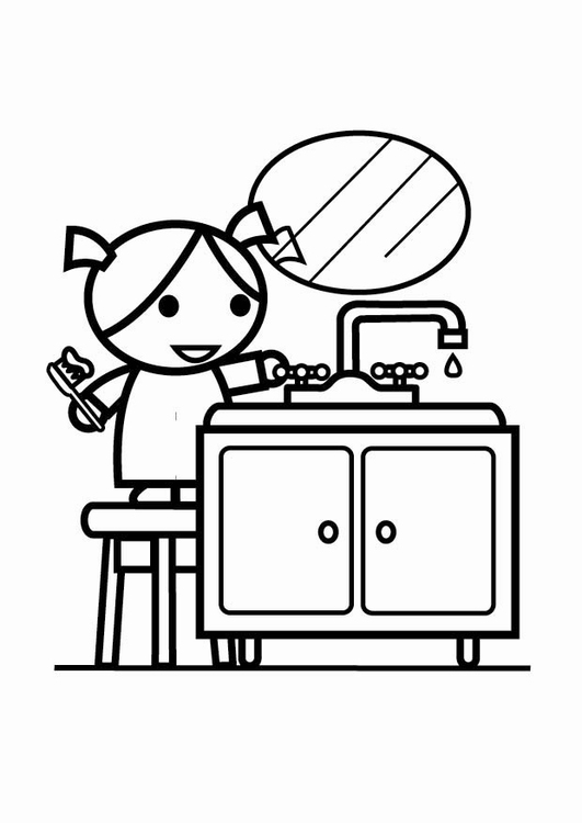 coloring page to be water efficient turn off the tap while