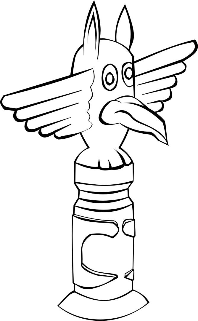coloring page totem pole img 16187