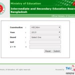 HSC Exam Result 2016 Education Board