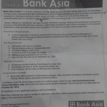 Bank Asia Jobs Circular 2016 Assistant Relationship Officer