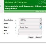 HSC Result 2017 educationboardresults.gov.bd Bangladesh Edu Board