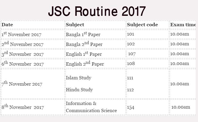 JSC Routine 2017