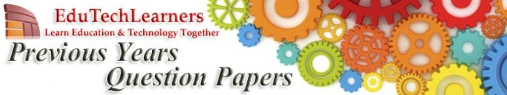 Edutechlearners-Previous Year Question Papers