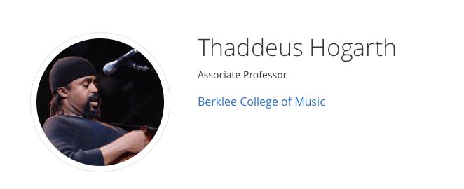 Thaddeus Hogarth Coursera Guitar Teacher